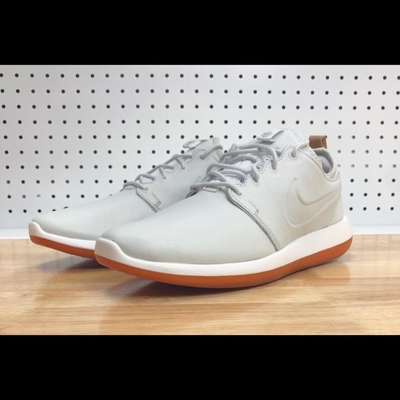 393b1aa8a394b Nike Roshe Two Leather Premium Mens Off White Gum